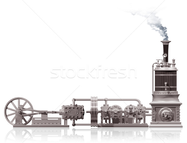 Vapeur usine motif originale illustration fond Photo stock © paulfleet