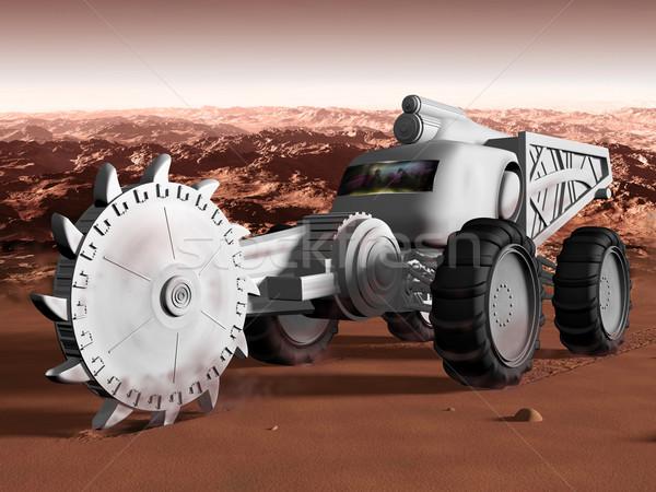Mining on Mars Stock photo © paulfleet