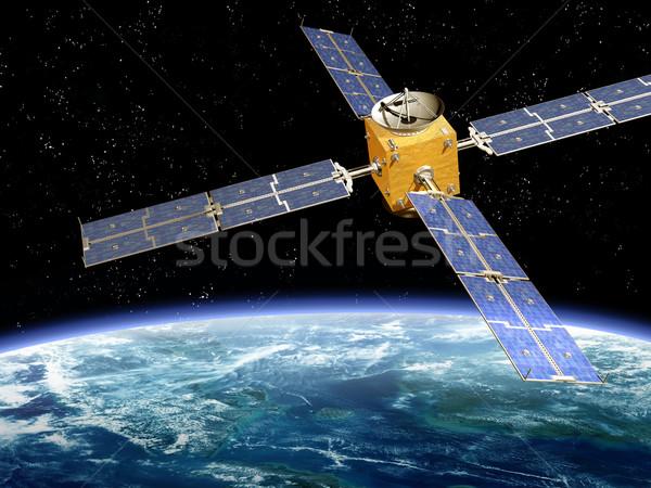 Orbiting Satellite Stock photo © paulfleet
