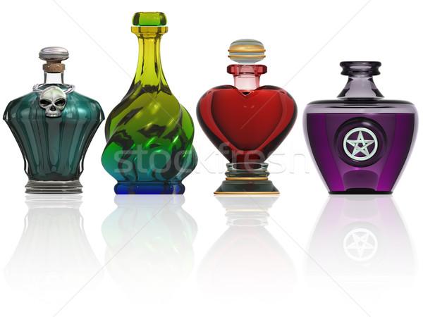 Raccolta bottiglie illustrazione magia Foto d'archivio © paulfleet