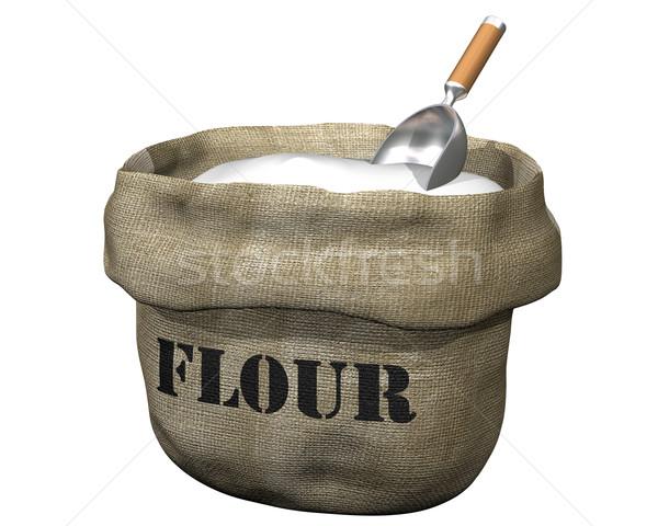 Sack of flour Stock photo © paulfleet