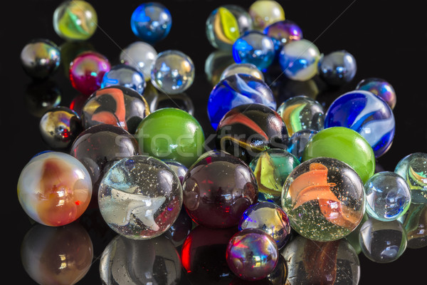 Various Glass Marbles Stock photo © paulfleet