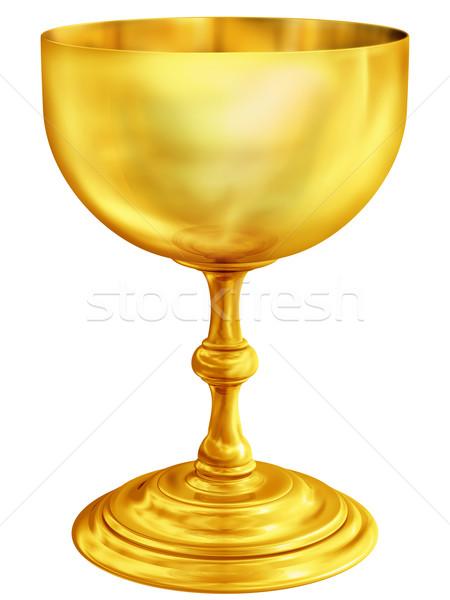 Arany kehely illusztráció rendkívül csiszolt antik Stock fotó © paulfleet
