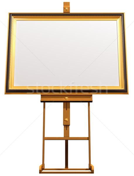 Kép művész festőállvány illusztráció pihen keret Stock fotó © paulfleet