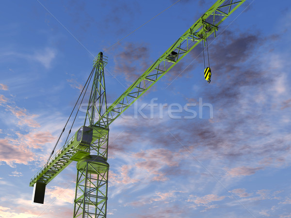 Tower Crane at Twilight Stock photo © paulfleet