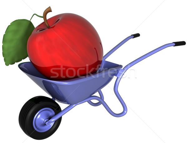 巨人 リンゴ 手押し車 孤立した 実例 座って ストックフォト © paulfleet