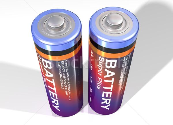 Pair of batteries Stock photo © paulfleet