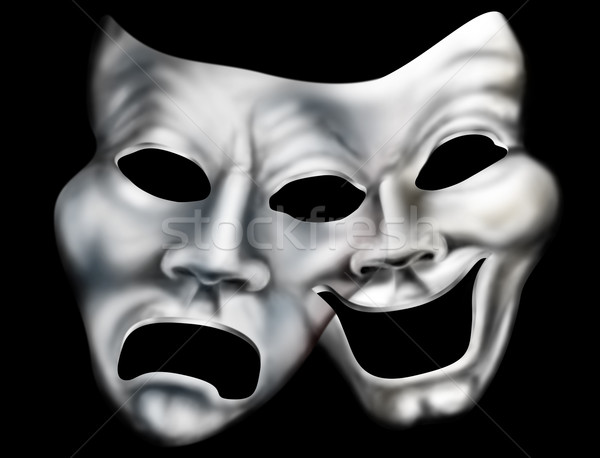 Merging theater masks Stock photo © paulfleet