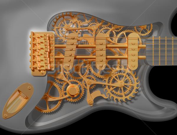 Clockwork guitar Stock photo © paulfleet
