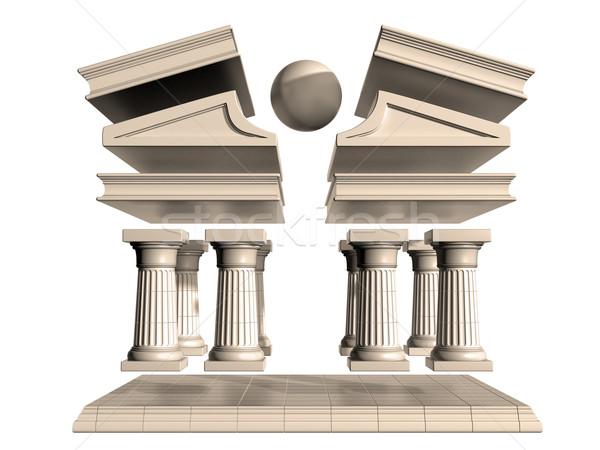 Deconstructed Greek Temple Stock photo © paulfleet