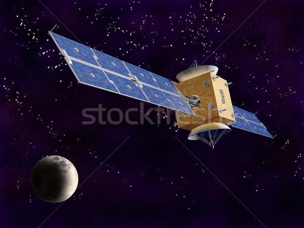 Satellite espace illustration technologie métal Photo stock © paulfleet