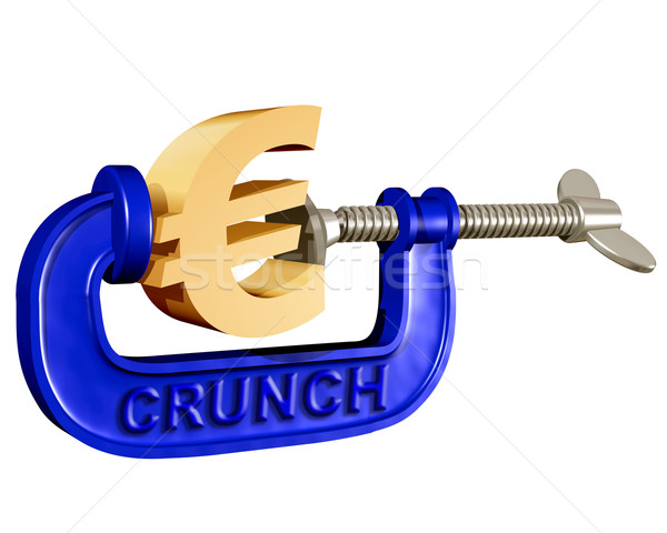 Squeezing the Euro Stock photo © paulfleet