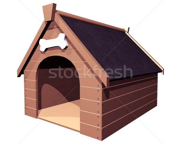 The Doghouse isolated Stock photo © paulfleet