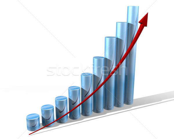 Gráfico futuro ilustração gráfico de barras azul Foto stock © paulfleet