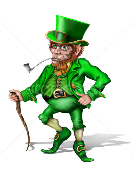 Cheeky Leprechaun Stock photo © paulfleet