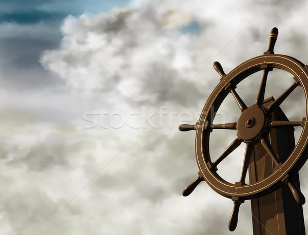 устойчивый иллюстрация суда колесо угол Сток-фото © paulfleet