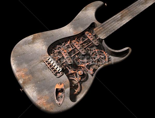Vapeur punk guitare originale illustration Photo stock © paulfleet
