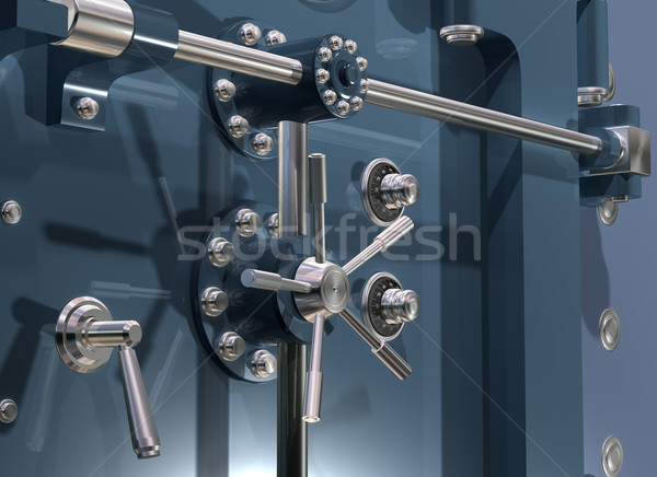 Bank Vault Close up Stock photo © paulfleet