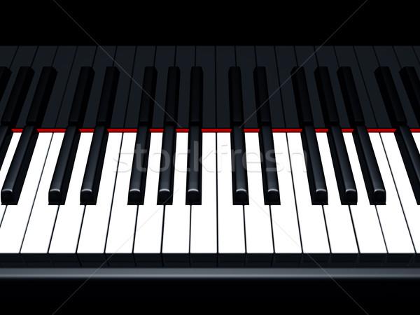 Piano notes Stock photo © paulfleet