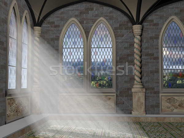 God Rays Through An Arched Window Stock photo © paulfleet