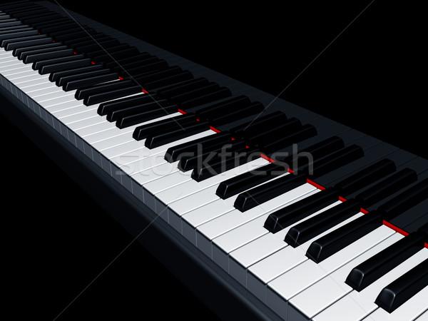 Piano keys Stock photo © paulfleet