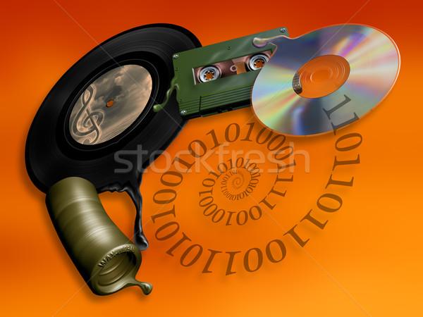 évolution musique médias illustration technologie Photo stock © paulfleet