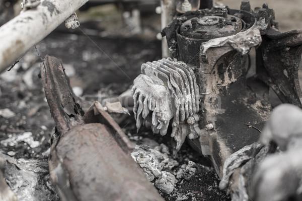 Burnt scooter Stock photo © paulfleet