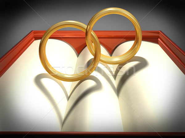 Interlocking wedding rings Stock photo © paulfleet
