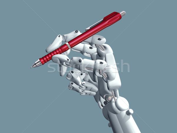 Science-fiction illustration robot stylo signe Photo stock © paulfleet