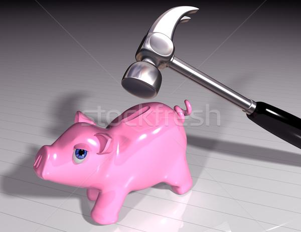 Smash the piggy Stock photo © paulfleet