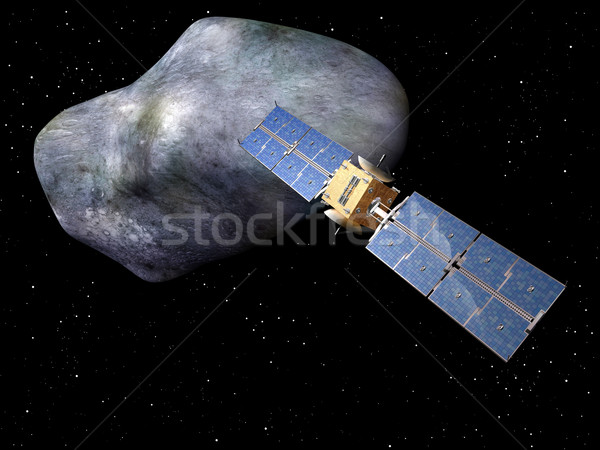 Géant satellite up derrière communication Photo stock © paulfleet