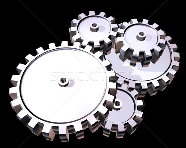 Silver gears Stock photo © paulfleet