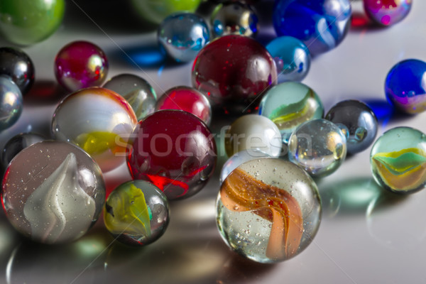 Mixed Glass Marbles Stock photo © paulfleet
