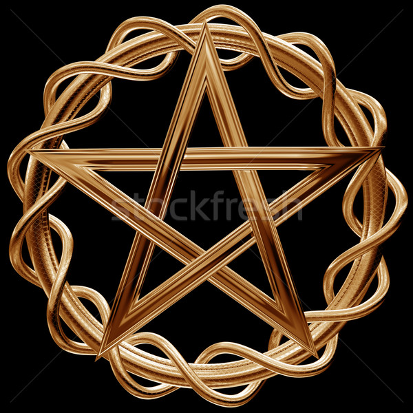 Golden pentagram Stock photo © paulfleet