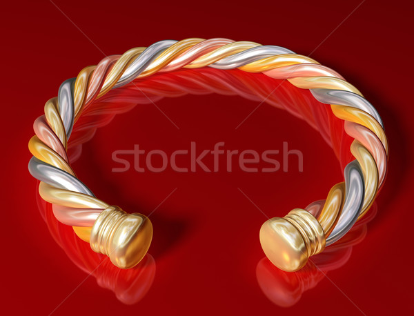 Gold Twist Bangle Stock photo © paulfleet