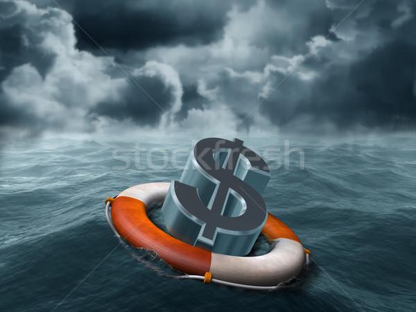Dollar rescue Stock photo © paulfleet