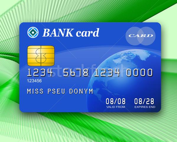 Kredi kartı örnek tipik mavi kredi Stok fotoğraf © paulfleet