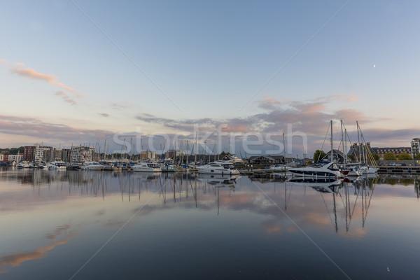 Harbour at Twilight Stock photo © paulfleet