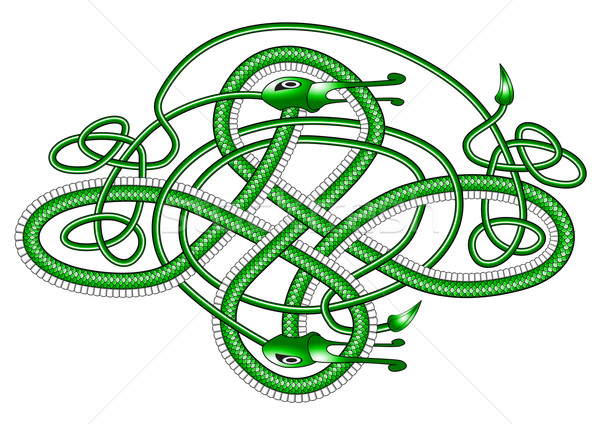 Celtic knot dragon; Stock photo © paulfleet