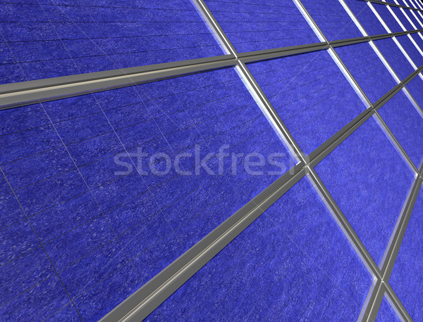 Close up of solar panel array Stock photo © paulfleet