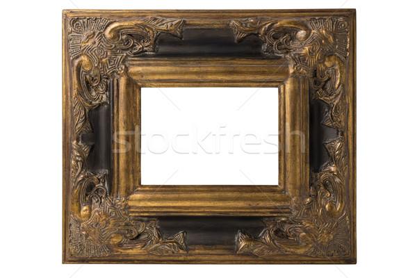Espanhol barroco quadro pequeno preto ouro Foto stock © paulfleet