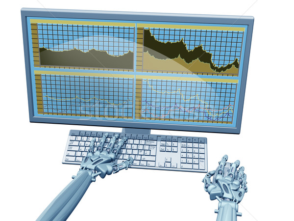 Robot trader Stock photo © paulfleet