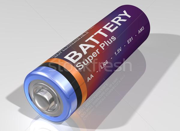 Bateria ilustração eletricidade reciclar célula objeto Foto stock © paulfleet