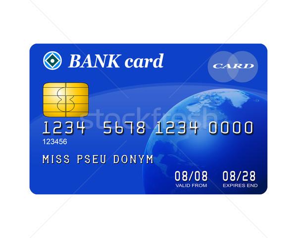 Izolált hitelkártya illusztráció tipikus kék kredit Stock fotó © paulfleet