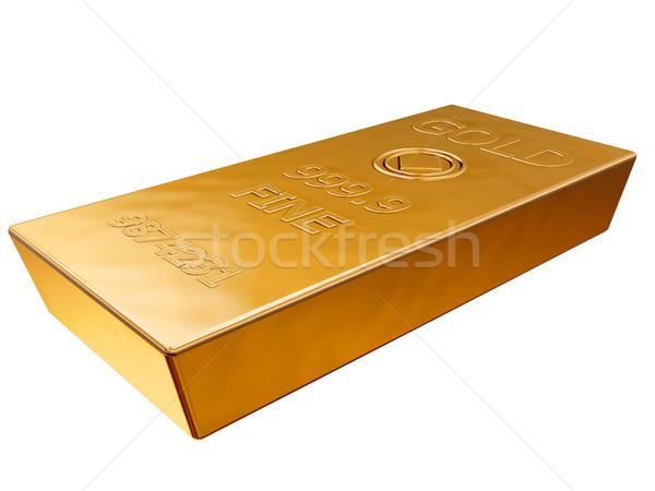 Aranyrúd izolált illusztráció merő arany bár Stock fotó © paulfleet