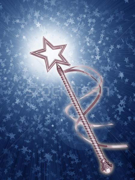 иллюстрация платина фея звездой фантазий Сток-фото © paulfleet