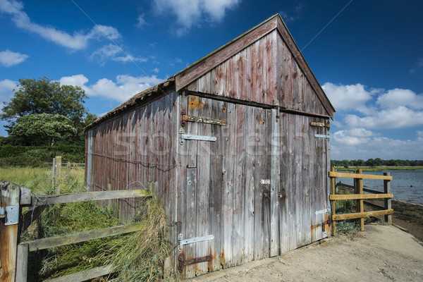 Old Wooden Boathouse Stock photo © paulfleet