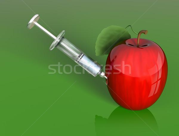 Apple manipulation Stock photo © paulfleet