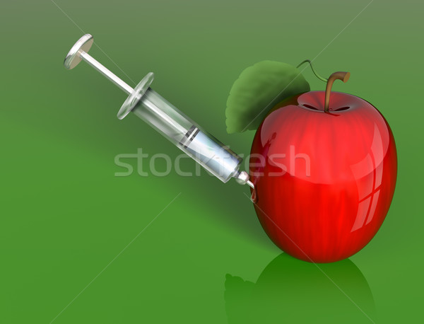 Stock photo: Apple manipulation