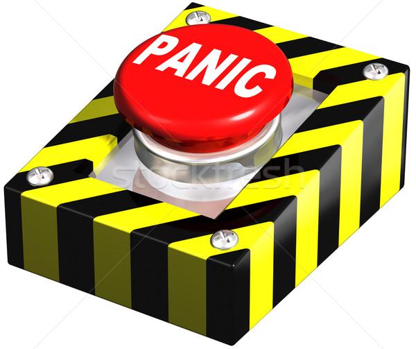промышленных паника кнопки изолированный иллюстрация чрезвычайных Сток-фото © paulfleet